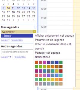agenda couleur
